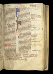 Illuminated Initials And Marginal Notes, In Peter Comestor's 'Scholastic History'